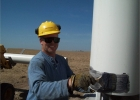 rick-krause-applying-glue-to-well-casing
